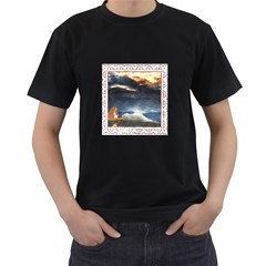 Stormy Twilight [Framed] Mens' Two Sided T-shirt (Black)