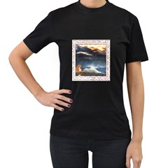 Stormy Twilight [Framed] Womens' Two Sided T-shirt (Black)