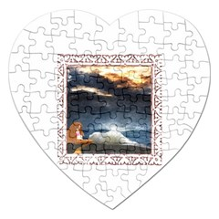 Stormy Twilight [Framed] Jigsaw Puzzle (Heart)
