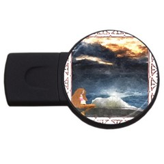 Stormy Twilight [Framed] 4GB USB Flash Drive (Round)