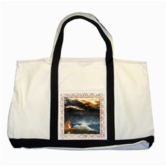 Stormy Twilight [Framed] Two Toned Tote Bag