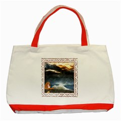 Stormy Twilight [Framed] Classic Tote Bag (Red)