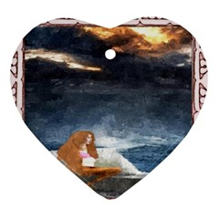 Stormy Twilight [Framed] Heart Ornament (Two Sides)