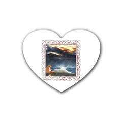 Stormy Twilight [Framed] Drink Coasters (Heart)