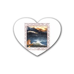 Stormy Twilight [framed] Drink Coasters 4 Pack (heart)