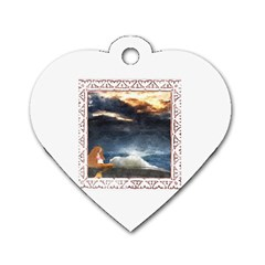 Stormy Twilight [Framed] Dog Tag Heart (Two Sided)