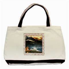 Stormy Twilight [framed] Twin Sided Black Tote Bag