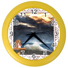 Stormy Twilight [Framed] Wall Clock (Color)