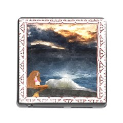 Stormy Twilight [Framed] Memory Card Reader with Storage (Square)