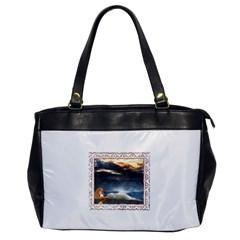 Stormy Twilight [framed] Oversize Office Handbag (one Side)