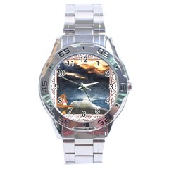 Stormy Twilight [Framed] Stainless Steel Watch (Men s)