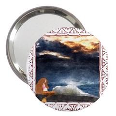 Stormy Twilight [Framed] 3  Handbag Mirror