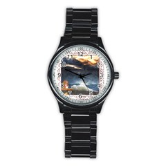 Stormy Twilight [Framed] Sport Metal Watch (Black)