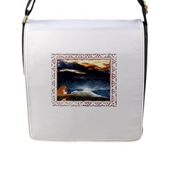 Stormy Twilight [Framed] Flap Closure Messenger Bag (Large)
