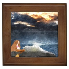 Stormy Twilight  Framed Ceramic Tile