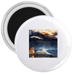 Stormy Twilight  3  Button Magnet