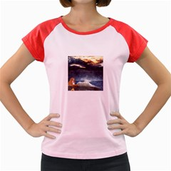 Stormy Twilight  Women s Cap Sleeve T-Shirt (Colored)