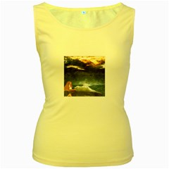Stormy Twilight  Womens  Tank Top (Yellow)