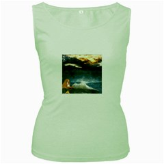 Stormy Twilight  Womens  Tank Top (Green)