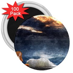 Stormy Twilight  3  Button Magnet (100 Pack)