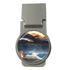 Stormy Twilight  Money Clip (Round)