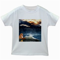 Stormy Twilight  Kids' T-shirt (White)