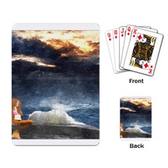 Stormy Twilight  Playing Cards Single Design