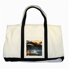 Stormy Twilight  Two Toned Tote Bag