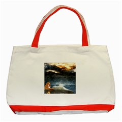 Stormy Twilight  Classic Tote Bag (Red)