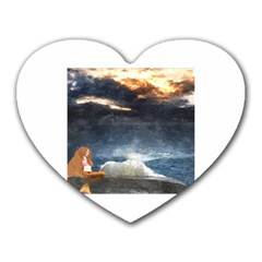 Stormy Twilight  Mouse Pad (heart)