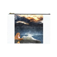 Stormy Twilight  Cosmetic Bag (large)