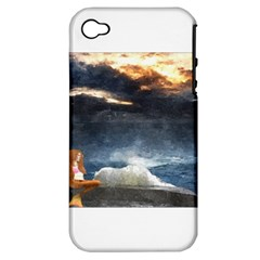 Stormy Twilight  Apple Iphone 4/4s Hardshell Case (pc+silicone)