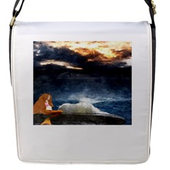 Stormy Twilight  Flap Closure Messenger Bag (small)
