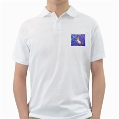 Unicorn Ii Mens  Polo Shirt (white)