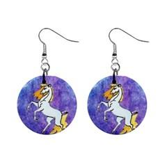 Unicorn II Mini Button Earrings
