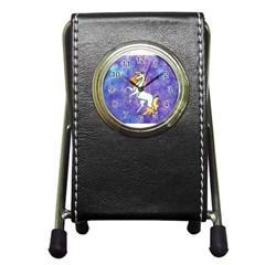Unicorn II Stationery Holder Clock