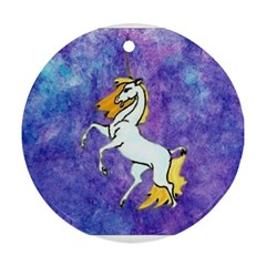 Unicorn II Round Ornament (Two Sides)
