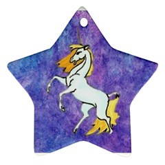 Unicorn Ii Star Ornament (two Sides)