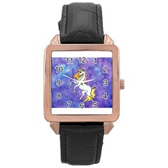 Unicorn Ii Rose Gold Leather Watch