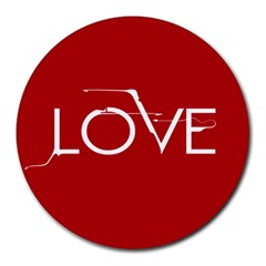 Love 8  Mouse Pad (round)