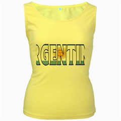 Argentina Womens  Tank Top (Yellow)