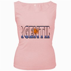 Argentina Womens  Tank Top (Pink)