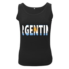 Argentina Womens  Tank Top (Black)