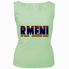 Armenia Womens  Tank Top (Green)
