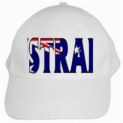 Australia White Baseball Cap