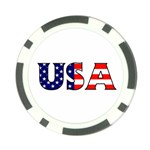 Usa Poker Chip Back