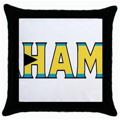 Bahamas Black Throw Pillow Case