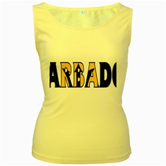 Barbados Womens  Tank Top (Yellow)