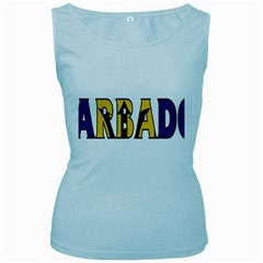 Barbados Womens  Tank Top (baby Blue)