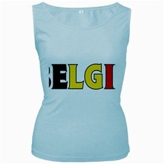 Belgium Womens  Tank Top (Baby Blue)